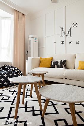 精选87平方二居客厅北欧装修设计效果图片大全二居北欧极简家装装修案例效果图
