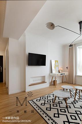 精美二居客厅北欧装修欣赏图片二居北欧极简家装装修案例效果图