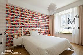 2018精选面积74平北欧二居儿童房装修实景图片二居北欧极简家装装修案例效果图