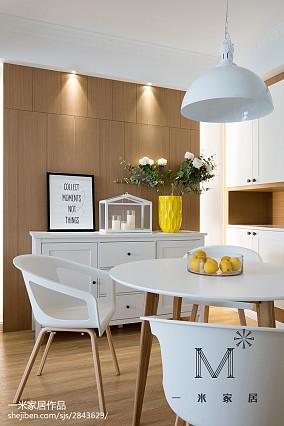 温馨70平北欧二居餐厅装饰图二居北欧极简家装装修案例效果图