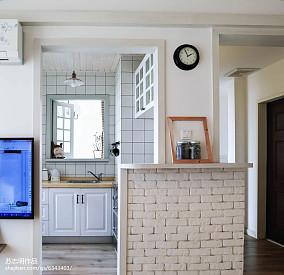 2018面积72平小户型厨房北欧装修效果图片欣赏