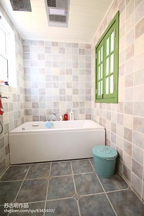 热门98平米三居卫生间美式装饰图片卫生间美式经典设计图片赏析