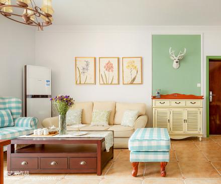 优美124平美式三居装修效果图