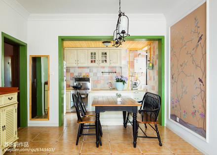 精选面积104平美式三居餐厅装修效果图