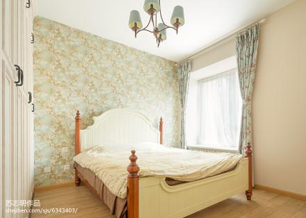 热门106平米三居卧室美式装修欣赏图