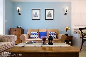 2018精选100平米三居客厅美式效果图片
