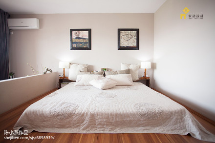 温馨64平日式复式卧室效果图