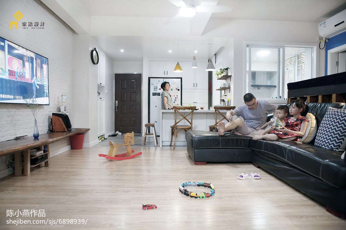 2018精选99平方三居客厅混搭装修效果图片欣赏客厅