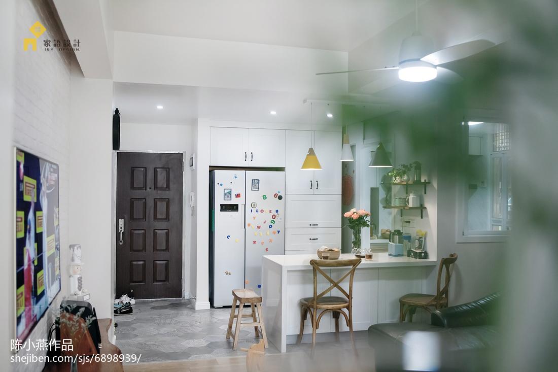 精美面积98平混搭三居餐厅装修实景图厨房
