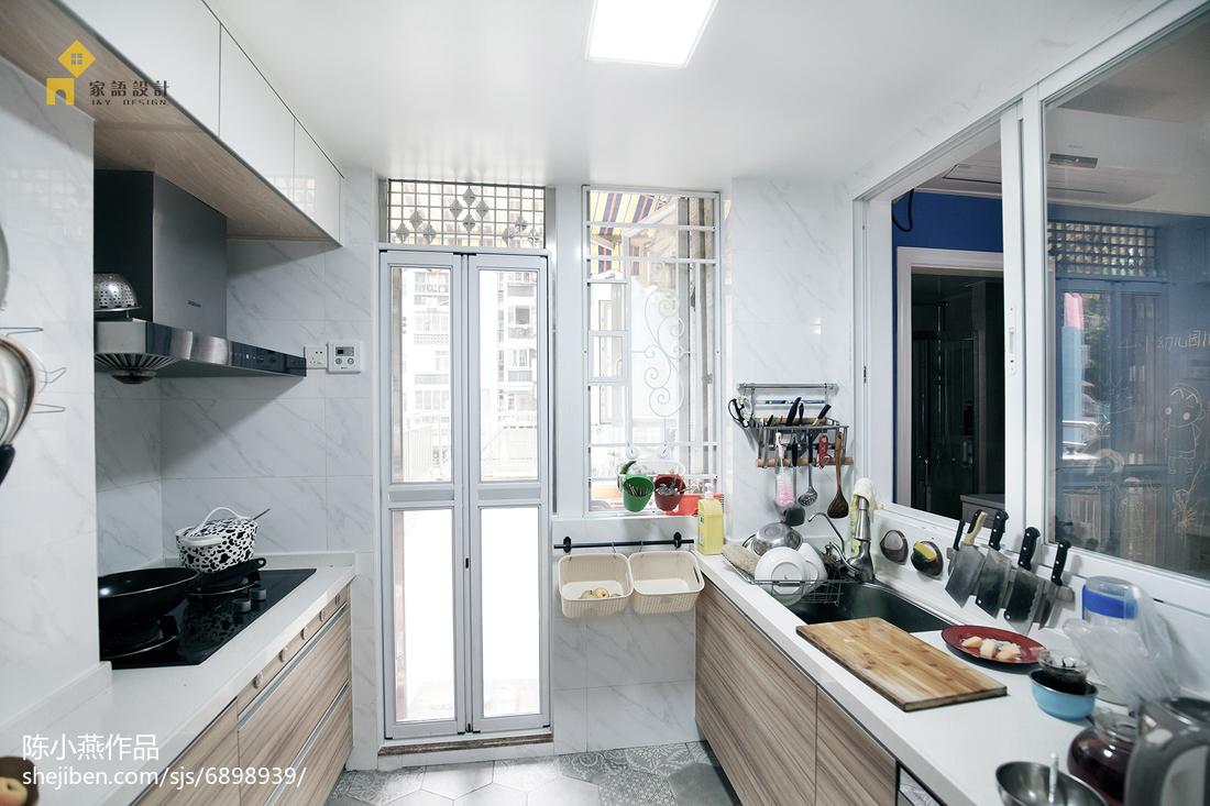 精选93平米三居厨房混搭效果图片欣赏餐厅