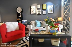 精选宜家客厅装修图样板间现代简约家装装修案例效果图