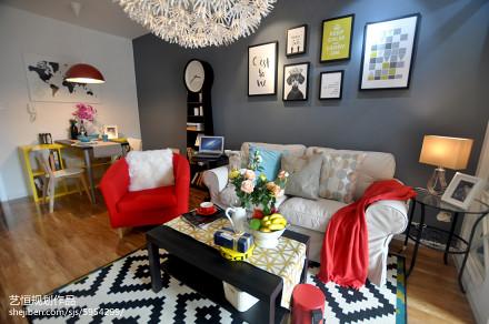 2018客厅宜家装修图片大全样板间现代简约家装装修案例效果图