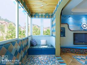 质朴108平地中海三居阳台装饰美图