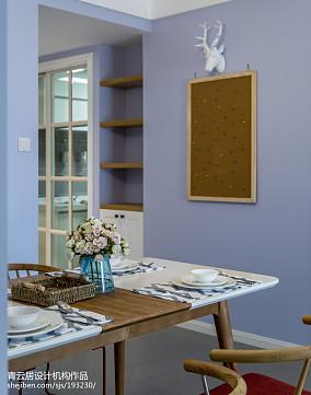 热门82平米二居餐厅北欧效果图厨房1图北欧极简设计图片赏析