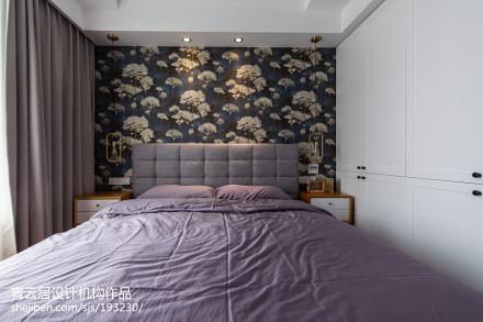 2018精选82平米二居卧室北欧装修图卧室1图