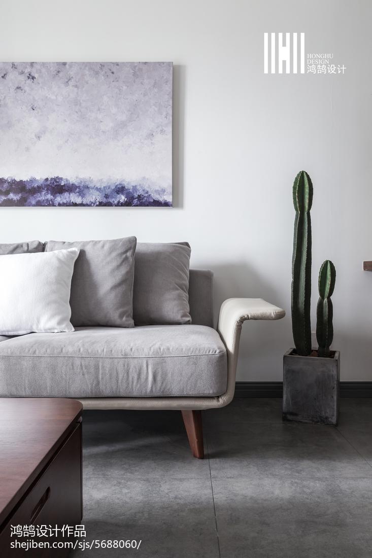 精美75平米二居客厅北欧装修实景图片大全客厅北欧极简客厅设计图片赏析