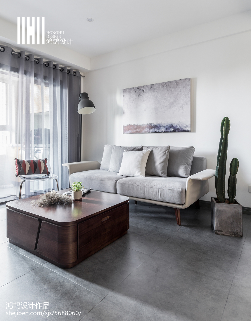 精选90平米二居客厅北欧装修效果图客厅窗帘北欧极简客厅设计图片赏析
