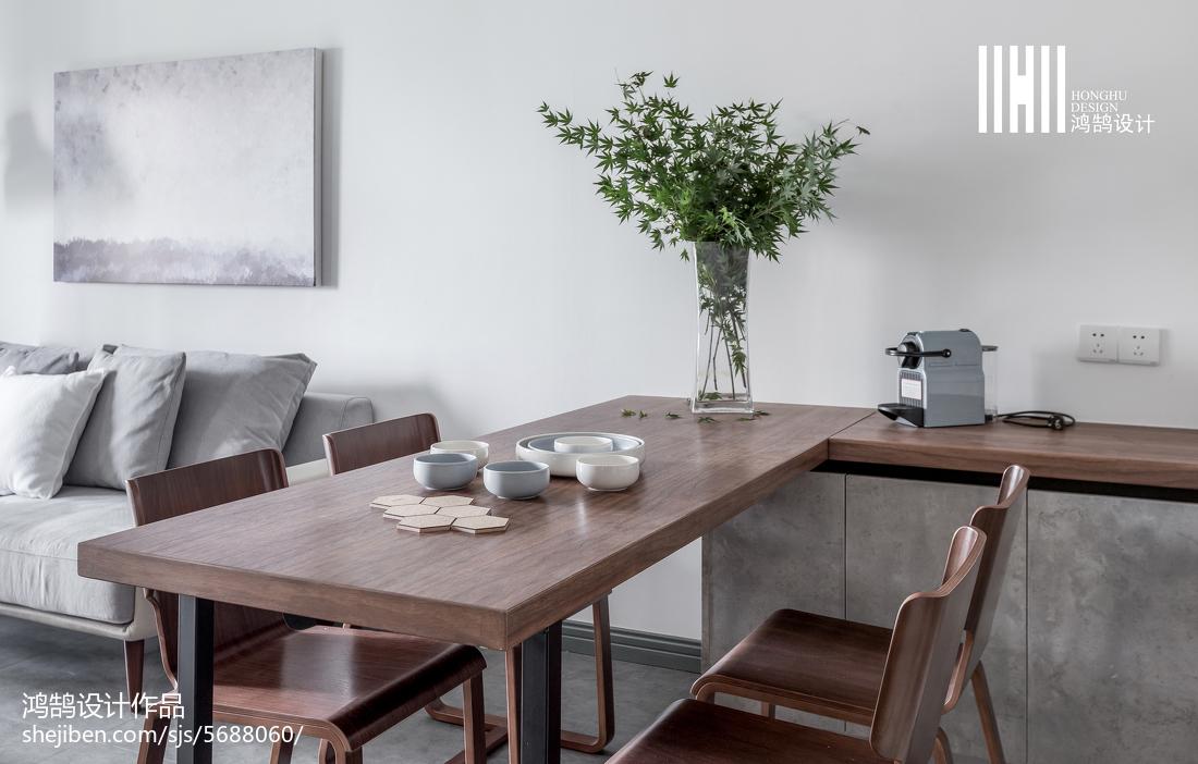 精选74平米二居餐厅北欧装修效果图片欣赏厨房沙发北欧极简餐厅设计图片赏析