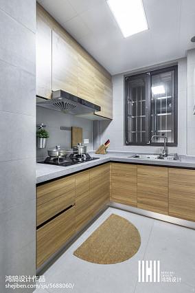 热门二居厨房北欧效果图片欣赏二居北欧极简家装装修案例效果图