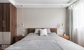 2018精选面积82平北欧二居卧室欣赏图片二居北欧极简家装装修案例效果图