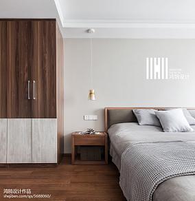 2018二居卧室北欧装修实景图片卧室北欧极简设计图片赏析