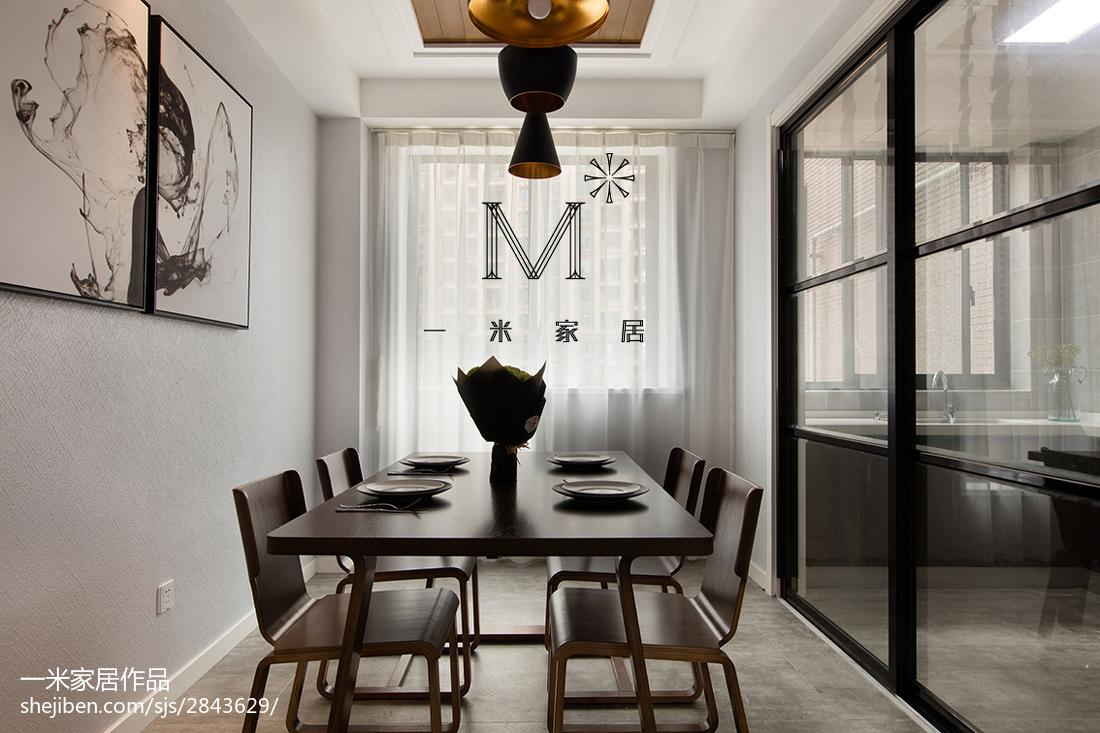 现代风格三居室餐厅装修厨房现代简约餐厅设计图片赏析