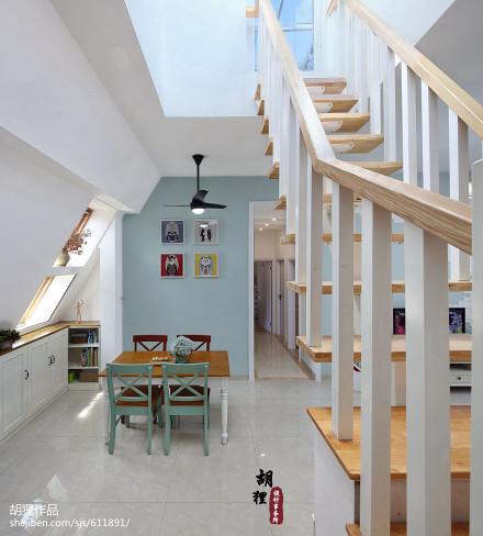 华丽68平北欧复式餐厅装饰图厨房