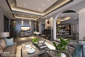 美式别墅装修设计效果图大全2014