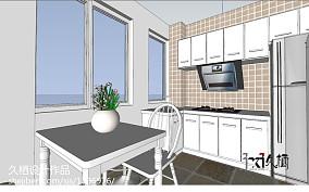 轻奢29平地中海小户型厨房实景图片餐厅地中海设计图片赏析