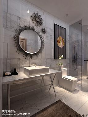 黑白砖卫生间效果图