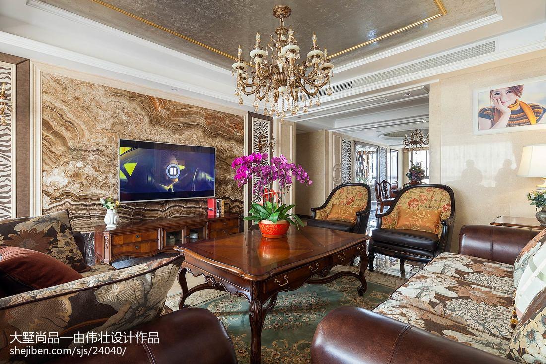 欧式风格客厅电视背景墙设计客厅背景墙欧式豪华客厅设计图片赏析