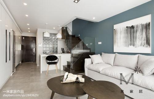 精选面积80平小户型客厅现代装修图片大全客厅沙发60m²以下现代简约家装装修案例效果图