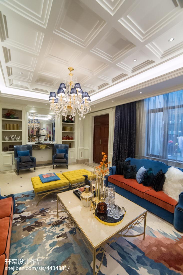 时尚欧式吊顶装修大全客厅吊顶欧式豪华客厅设计图片赏析