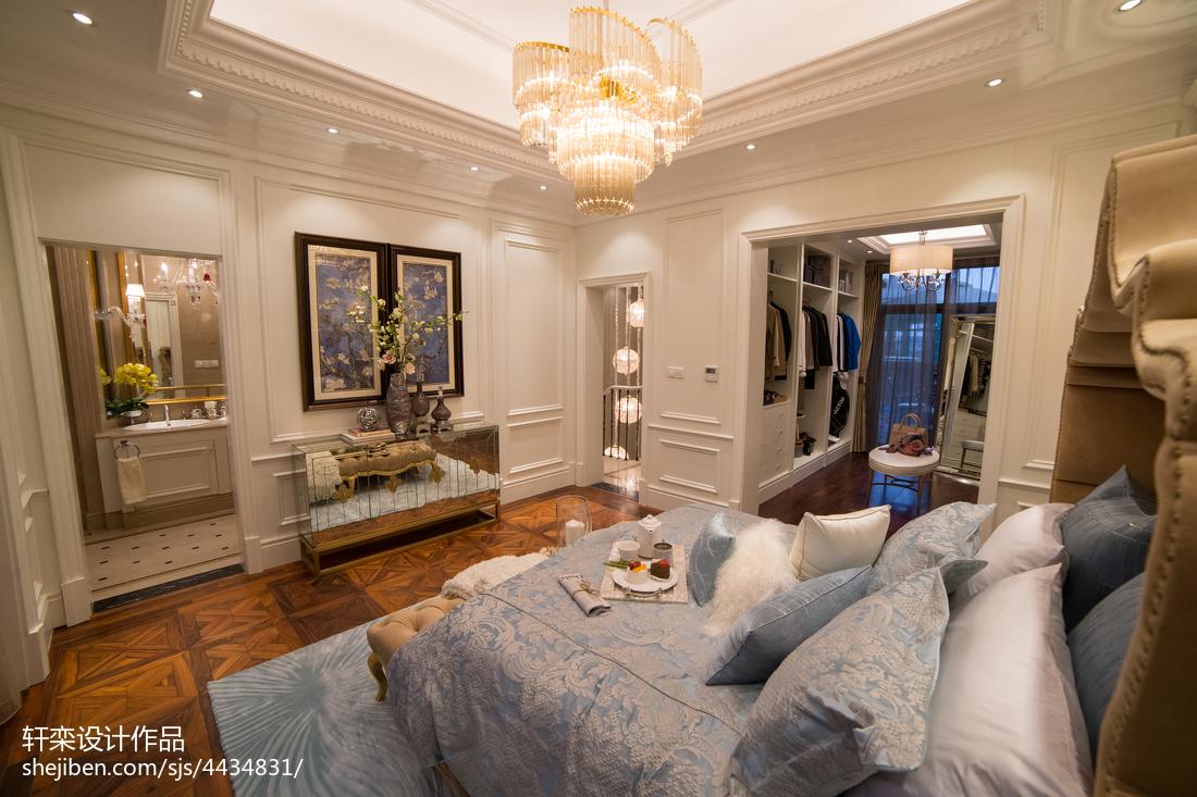 浪漫欧式别墅卧室布置客厅木地板欧式豪华客厅设计图片赏析