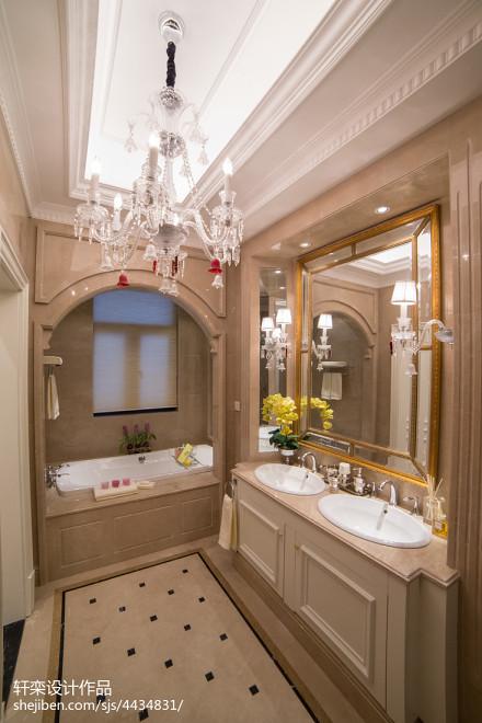 平米欧式别墅卫生间欣赏图卫生间