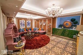 欧式风格别墅地下室设计案例客厅欧式豪华设计图片赏析