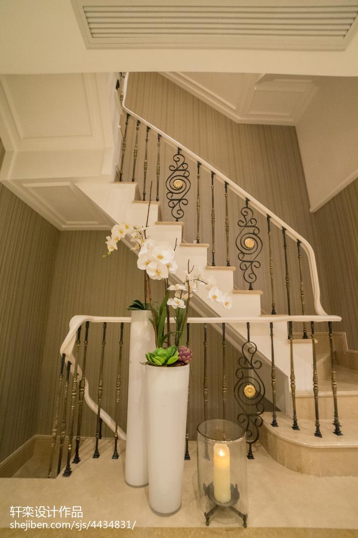 典雅欧式别墅楼梯设计功能区欧式豪华功能区设计图片赏析