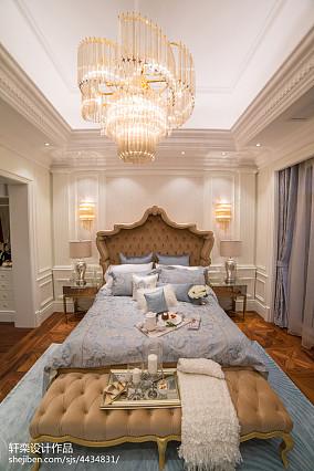 精选面积111平别墅卧室欧式装修实景图