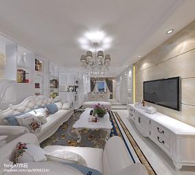 中式风格120平米三室两厅设计效果图