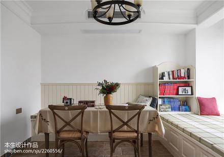 质朴46平美式复式餐厅装潢图