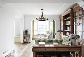 面积133平复式客厅美式装修设计效果图片大全复式美式经典家装装修案例效果图