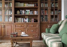 精美美式复式客厅效果图片大全复式美式经典家装装修案例效果图