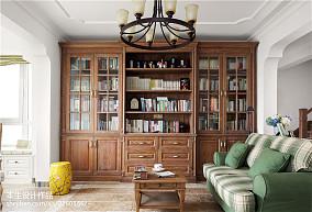 大气67平美式复式书房设计效果图复式美式经典家装装修案例效果图