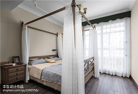 2018面积140平复式卧室美式装修设计效果图片欣赏复式美式经典家装装修案例效果图