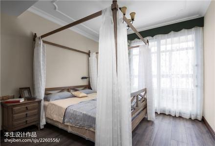 2018面积140平复式卧室美式装修设计效果图片欣赏