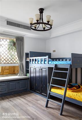 精美49平美式复式卧室装修美图复式美式经典家装装修案例效果图