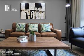 热门大小98平简约三居客厅装修实景图片大全三居现代简约家装装修案例效果图