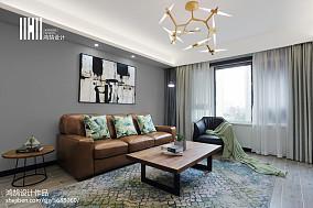 2018精选面积95平简约三居客厅装修效果图片三居现代简约家装装修案例效果图
