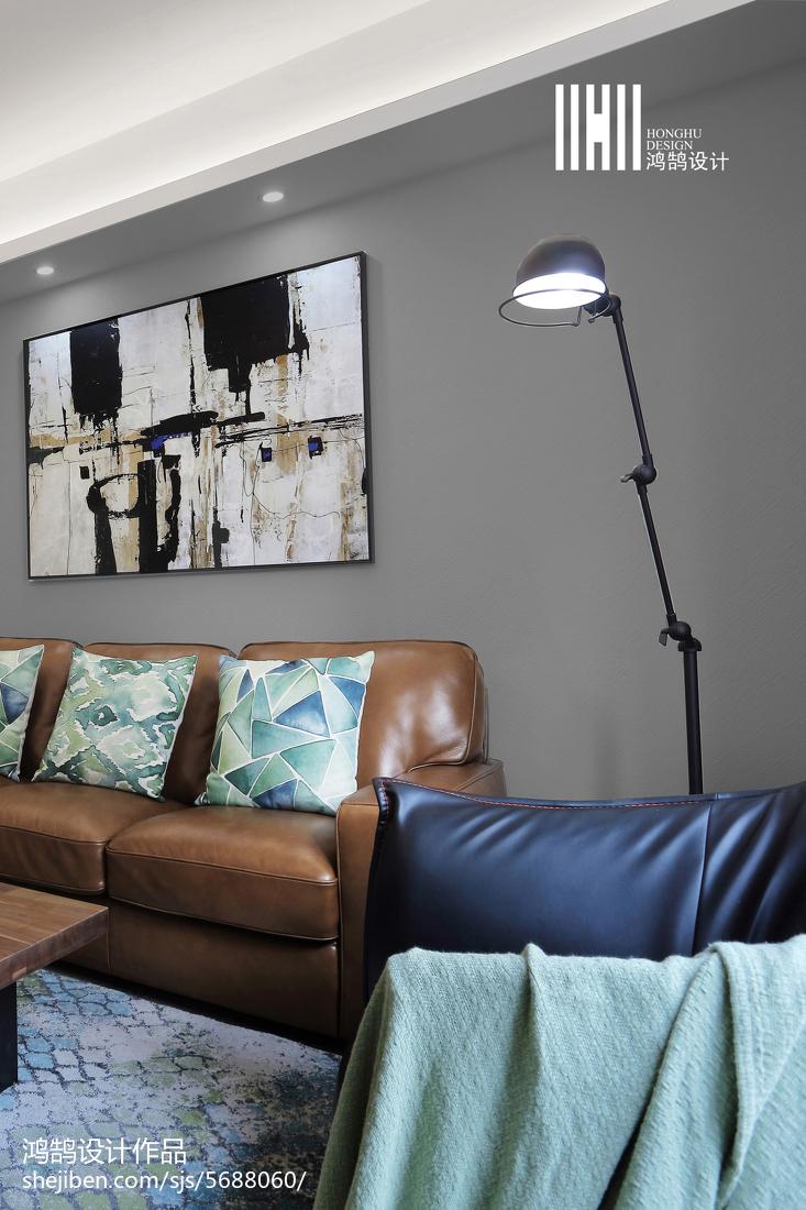 2018大小107平简约三居客厅装修效果图片欣赏客厅沙发现代简约客厅设计图片赏析
