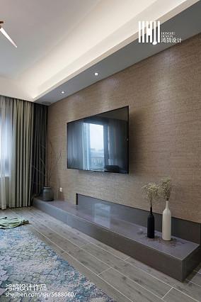 精选103平米三居客厅简约效果图片欣赏